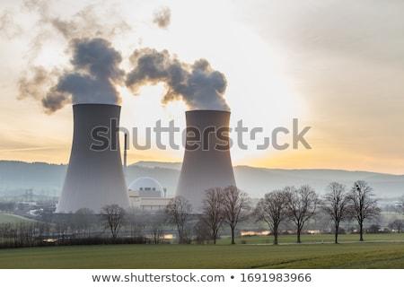 industriële · zwarte · giftig · rook · energiecentrale - stockfoto © smithore