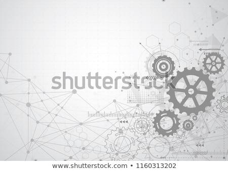 歯車 ベクトル 簡単 技術 背景 産業 ストックフォト © malexandric