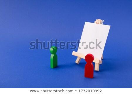 キャリア カラー 3D ボックス 文字 言葉 ストックフォト © marinini