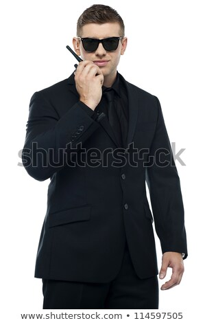 Half length portrait of young sincere security officer Stock photo © stockyimages