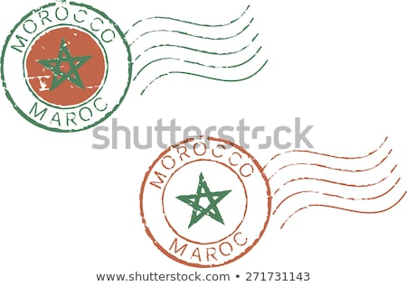 E-mail Marrocos imagem carimbo mapa bandeira Foto stock © perysty