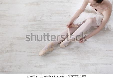 benen · witte · vrouwen · dans · ballet - stockfoto © choreograph