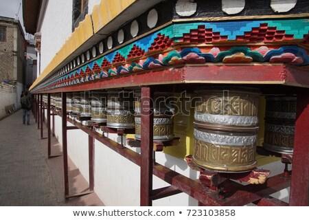 Nagy buddhista ima kerék India arany Stock fotó © haraldmuc