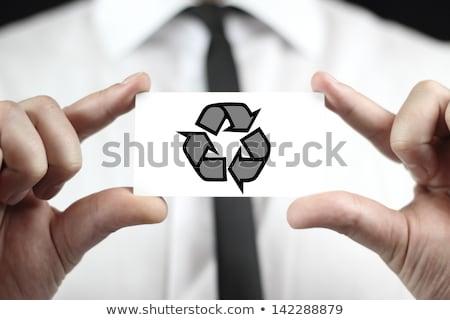 Man promoting environmental awareness Stock photo © photography33