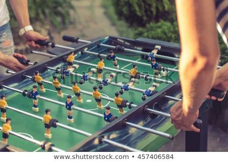 futballista · citromsárga · rúg · labda · fehér · sport - stock fotó © digoarpi