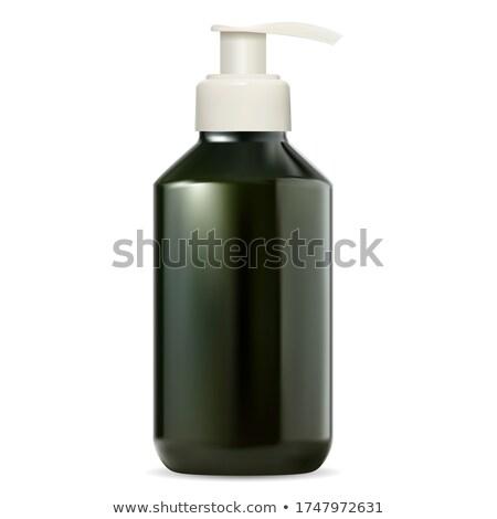 Zielone szampon odizolowany biały projektu Zdjęcia stock © shutswis