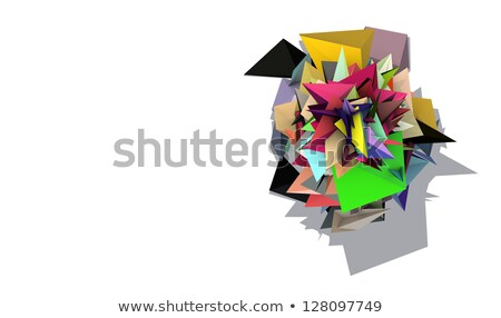 3d abstract rainbow colored spiked electric shape Stock photo © Melvin07