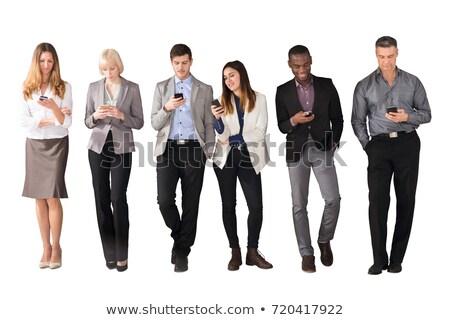 işadamı · cep · telefonu · beyaz · teknoloji · telefon · takım · elbise - stok fotoğraf © wavebreak_media