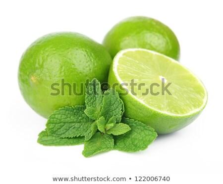 извести · мята · филиала · белый · фрукты · лимона - Сток-фото © Masha