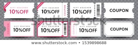 Zdjęcia stock: Kupony · zestaw · gradient · odizolowany · biały