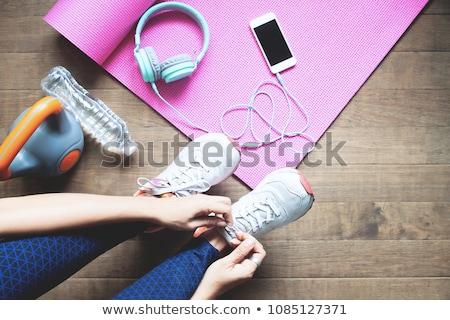 Colorato home allenamento pesi personale mano Foto d'archivio © tab62