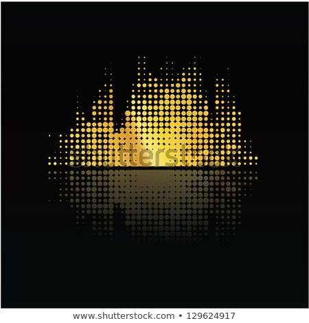 Zene hangerő tükröződés kicsi pontok absztrakt Stock fotó © vitek38