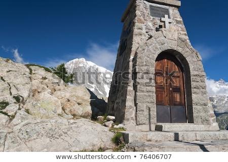 Kicsi kápolna völgy Olaszország égbolt természet Stock fotó © Antonio-S
