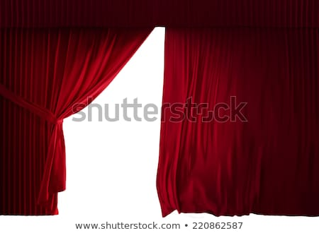 3 red curtains stock photo © elenashow