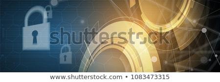 információ · biztonság · gomb · narancs · számítógép · billentyűzet · 3d · render - stock fotó © tashatuvango