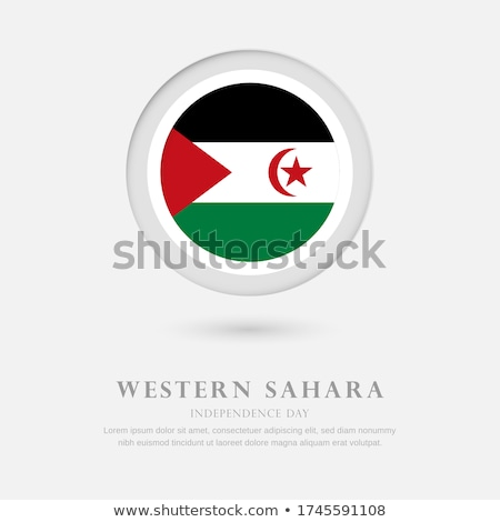 The national flag of Western Sahara Stock photo © claudiodivizia