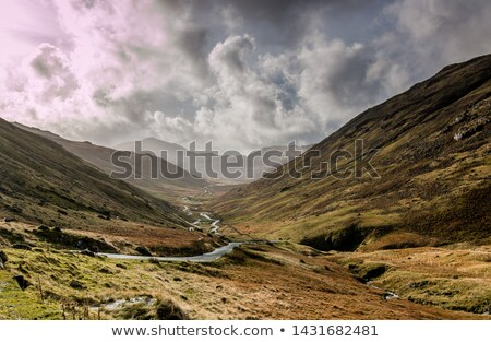 Hardknott Pass, Cumbria, England Stock photo © phbcz