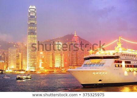 Cruise liner in Hong Kong Stock photo © joyr