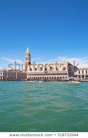 Basilica of Saint Mark bell tower and Palazzo Ducal, Venice Stock photo © aladin66