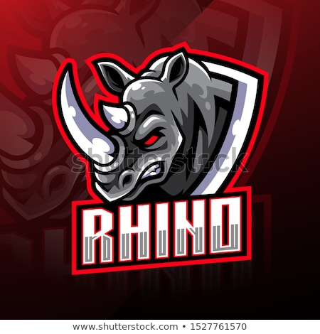 rhino rhinoceros animal head as symbol for mascot or emblem design logo vector illustration for t s stock photo © hermione