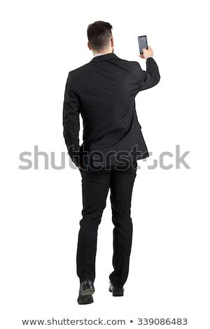 Zdjęcia stock: Elegancki · młodych · przystojny · mężczyzna · studio · moda · portret