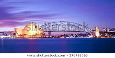 Sydney port pont Australie nuit Voyage Photo stock © travelphotography