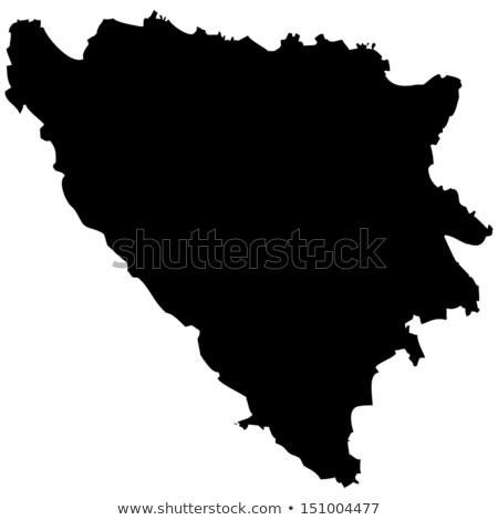 Mapa Bosnia Herzegovina sombra tierra Foto stock © michaklootwijk