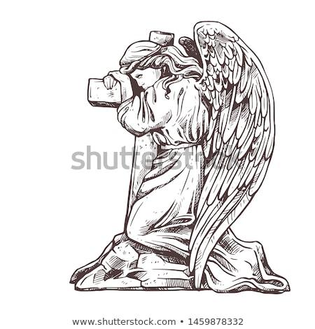 Kerkhof engel kruis Londen liefde licht Stockfoto © chrisdorney