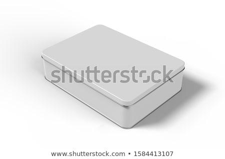 Bianco metal tin isolato riciclare Foto d'archivio © cherezoff