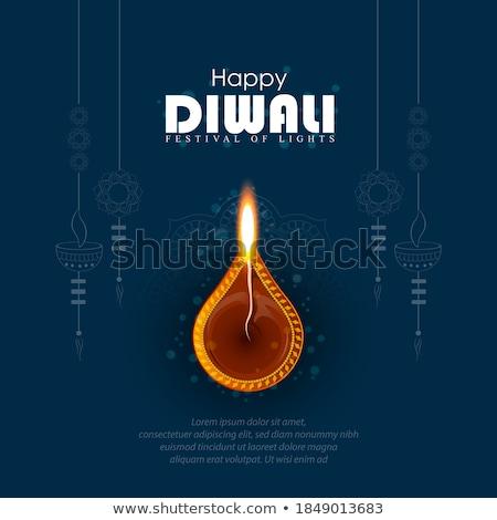 幸せ ディワリ パンフレット テンプレート デザイン 抽象的な ストックフォト © bharat
