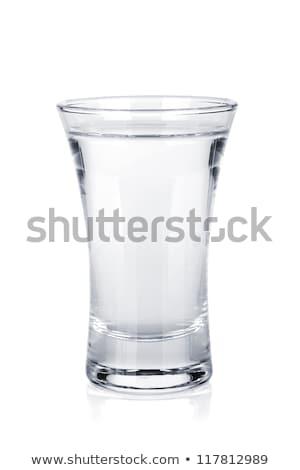 Votka yalıtılmış beyaz cam bar dinlenmek Stok fotoğraf © Escander81