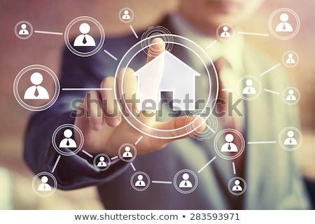 real estate button Stock photo © djdarkflower