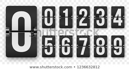 Wektora analog zegar numery czasu czarny Zdjęcia stock © odes