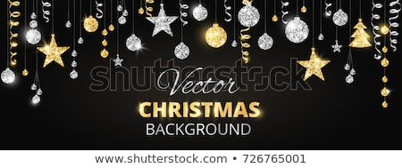 diamond christmas tree invitation card vector illustration stock photo © carodi