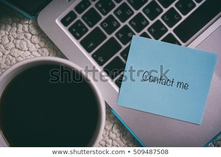 Contact me. Stock photo © lithian