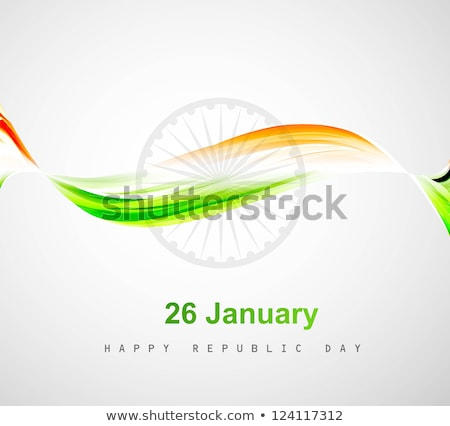 stylish indian flag wave republic day beautiful tricolor art vec foto stock © bharat