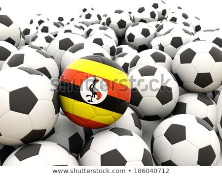 Bandera Uganda fútbol equipo país Foto stock © MikhailMishchenko