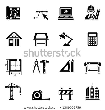 calculator icon on triangle background stock photo © tashatuvango