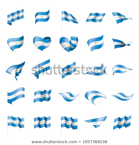Nicarágua bandeira ícone isolado branco projeto Foto stock © zeffss