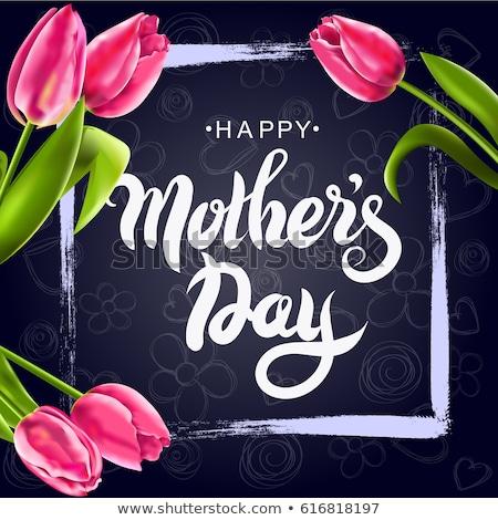 Mother's Day Chalkboard Greeting Card Stock photo © ivaleksa