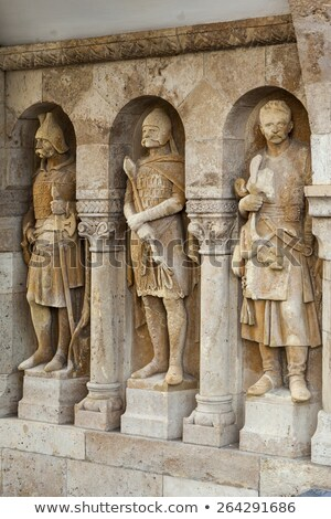 Noble knights statues at Buda Castle Stock photo © pixachi