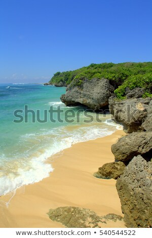 Footsteps on the Bali beach Stock photo © joyr
