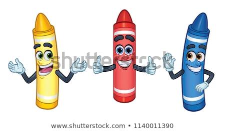 blue colouring crayon pencil stock photo © natika