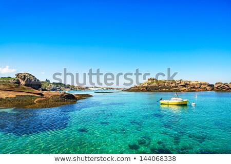 Haven Frankrijk roze graniet kust natuur Stockfoto © tilo