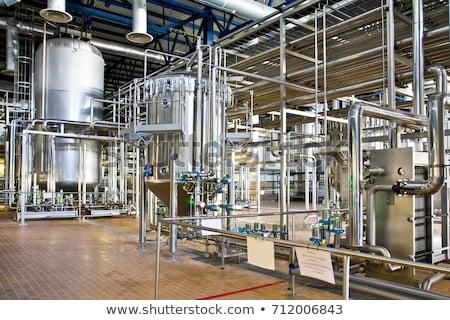 Aluminium fermentatie wijn grot fabriek Rood Stockfoto © kubais