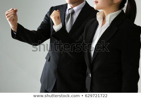 businesswoman - gut punch Stock photo © dgilder