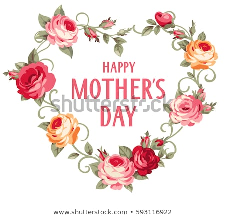 Happy mothers day Greeting card design for your mom Stock photo © kiddaikiddee