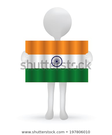 small 3d man holding an Indian Flag Stock photo © Istanbul2009