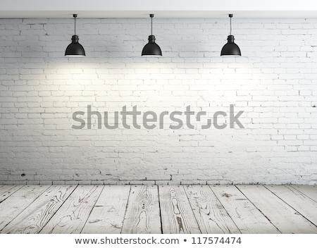 Fotolijstje stenen muur interieur huis bouw muur Stockfoto © scenery1