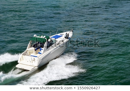 The waves from a high-speed boat. waterway. Sea Travel Stock photo © EwaStudio